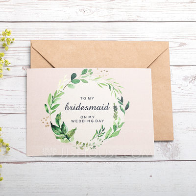 Bridesmaid Gifts - Fashion Card Paper Wedding Day Card