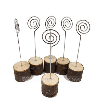 Tree Design Fresh Wooden Place Cards/Clip (set of 6)