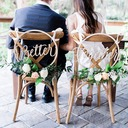 Classic/Beautiful Classic Wooden Wedding Sign (set of 2)
