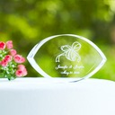 Personalized Ribbon Design Crystal Cake Topper