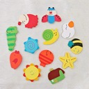 Cute Animal Wooden Stickers (Set of 12 pieces)