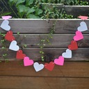 Heart Shaped Colorful Card Paper Banner/Decorative Accessories