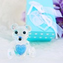 Choice Crystal Collection Teddy Bear Figurines(blue) (Sold in a single piece)