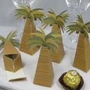 Coconut Tree Design Favor Boxes (Set of 12)