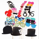 Funny Mask Beard Paper Photo Booth Props (44 Pieces)