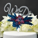 Sweet Love/We Do/Flower Acrylic Cake Topper (Sold in a single piece)