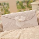 Classic Style Tri-Fold Invitation Cards With Bows (Set of 50)