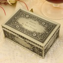 Bridesmaid Gifts - Personalized Classic Alloy Jewelry Box