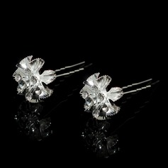 Beautiful Alloy/Czech Stones Hairpins (Set of 2)