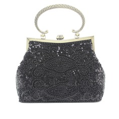 Gorgeous Satin With Beading/Sequin Clutches/Top Handle Bags