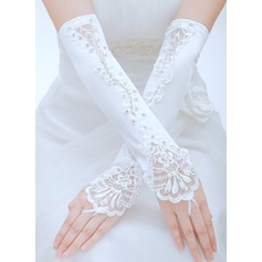 Satin Opera Length Bridal Gloves (014059689)