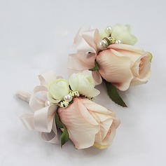 Free-Form Wrist Corsage/Boutonniere (set of 2) -