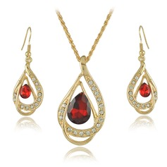 Unique Alloy Crystal With Rhinestone Ladies' Jewelry Sets