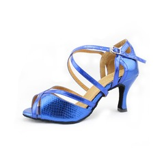 Leatherette Heels Latin Ballroom Salsa With Buckle Dance Shoes
