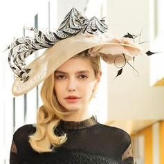 Ladies' Special/Elegant/Eye-catching Cambric With Feather Fascinators