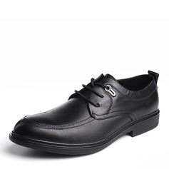 Мужская натуральня кожа шнуровка U-Tip Платья Men's Oxfords