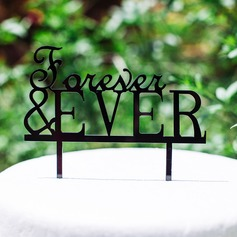 Forever & EVER Acrylic Wedding Cake Topper