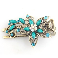 Flower Shaped Alloy Combs & Barrettes (Sold in single piece)