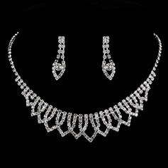 Charming Copper With Rhinestone Ladies' Jewelry Sets