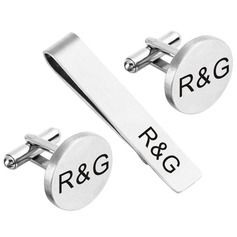 Personalized Modern Alloy Cufflinks Tie Clip