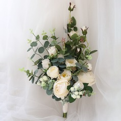 Pure Free-Form Satin Bridal Bouquets/Bridesmaid Bouquets (Sold in a single piece) - Bridal Bouquets