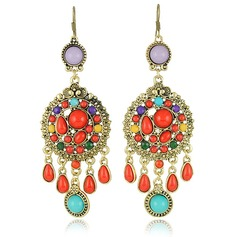 Exotic Alloy Resin Fashion Earrings
