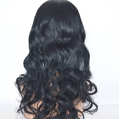 4A Non remy Wavy Human Hair Lace Front Wigs