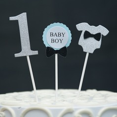 Sweet Love/Angel/Happily Ever After card paper Cake Topper