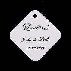 """Personalized """"Love"""" Hard Card Paper Tags"""