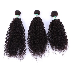 Curly Synthetic Hair Human Hair Weave (Sold in a single piece) 70g