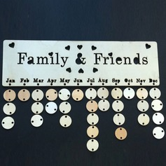 Simple/Classic Lovely/Elegant Natural Wood Birthday Board ~ Family & Friends or Birthdays