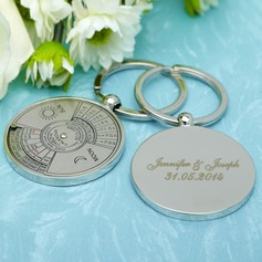 Personalized Perpetual Calendar Stainless Steel Keychains
