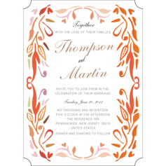 Whimsical Style Flat Card Invitation Cards