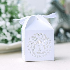 Bird Cuboid Favor Boxes With Ribbons