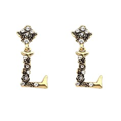 Stylish Zinc Alloy With Rhinestone Ladies' Fashion Earrings
