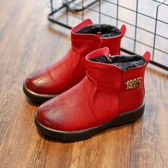 Unisex Round Toe Closed Toe Snow Boots Ankle Boots Martin Boots Leatherette Flat Heel Boots With Zipper