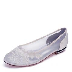 Women's Mesh Flat Heel Closed Toe Flats
