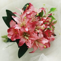 Romantic Hand-tied Satin Bridesmaid Bouquets