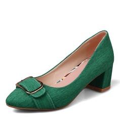Donna Tessuto Tacco spesso Stiletto con Fibbia scarpe