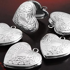 Heart Shaped Silver Plated DIY Jewelry (Sold in a single piece)