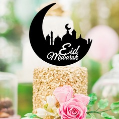 Muslim Islam Eid al-Fitr Classic Acrylic Cake Topper (Sold in a single piece)