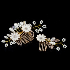 Special Crystal/Alloy/Imitation Pearls/Resin Combs & Barrettes(Set of 2 pieces)