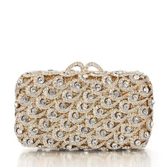 Attractive Crystal/ Rhinestone/Silver Plated Bridal Purse/Luxury Clutches