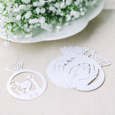 Diamond Ring Pearl Paper Place Cards