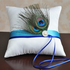 Lovely Ring Pillow in Cloth With Feather
