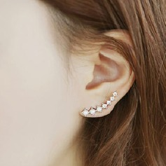 Shining Alloy/Pearl/Rhinestones Ladies' Earrings
