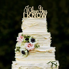 Sweet Love Wood Cake Topper