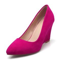 Mulheres Veludo Plataforma Bombas sapatos