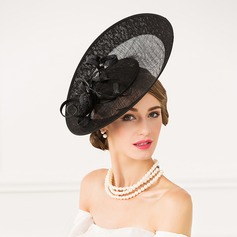 Dames Luim/Romantische/Wijnoogst Batist met Feather Fascinators