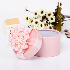 Lovely Cylinder Card Paper Favor Boxes With Flowers  (050039696)